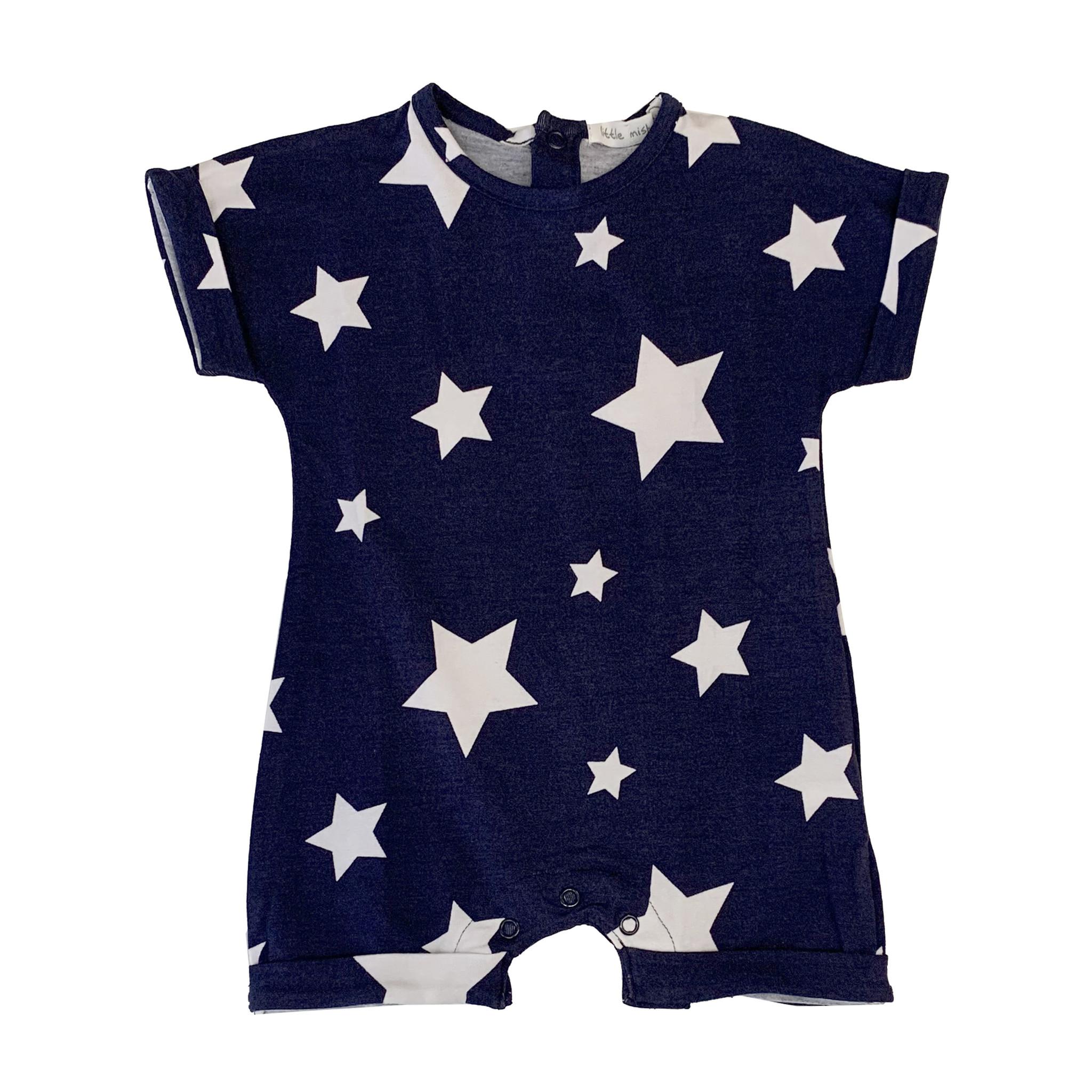 Little Mish Navy White Star Shortall