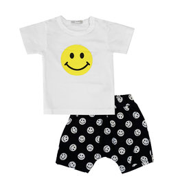 Little Mish Yellow Smiley Short Set