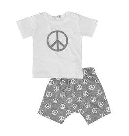 Little Mish Grey Peace Short Set