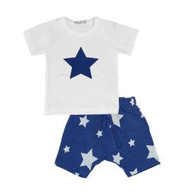 Little Mish Cobalt White Star Short Set