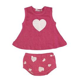 Little Mish Bubblegum Heart Swing Diaper Set