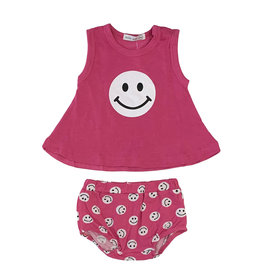Little Mish Bubblegum Smiley Swing Diaper Set