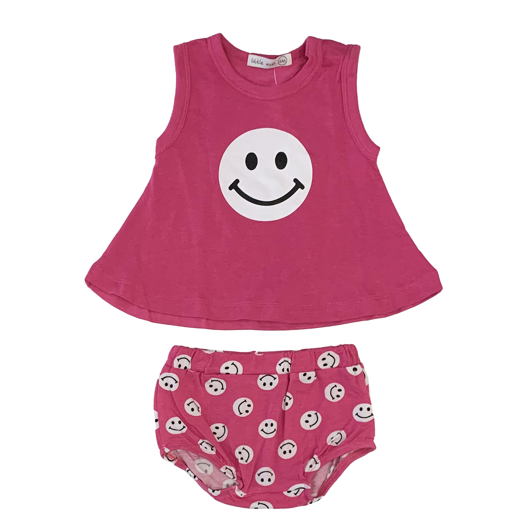 Little Mish Bubblegum Smiley Swing Diaper Set