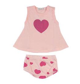 Little Mish Pink Heart Swing Diaper Set
