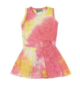 Dori Creations Pink & Yellow Tie Dye Tank Dress