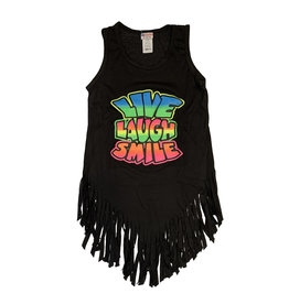 Ingear Black Live Laugh Fringe Coverup