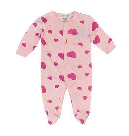 Little Mish Pink Heart Footie