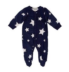 Little Mish Navy White Star Footie