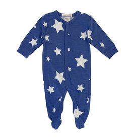 Little Mish Cobalt White Star Footie