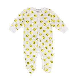 Little Mish Yellow Smiley Footie
