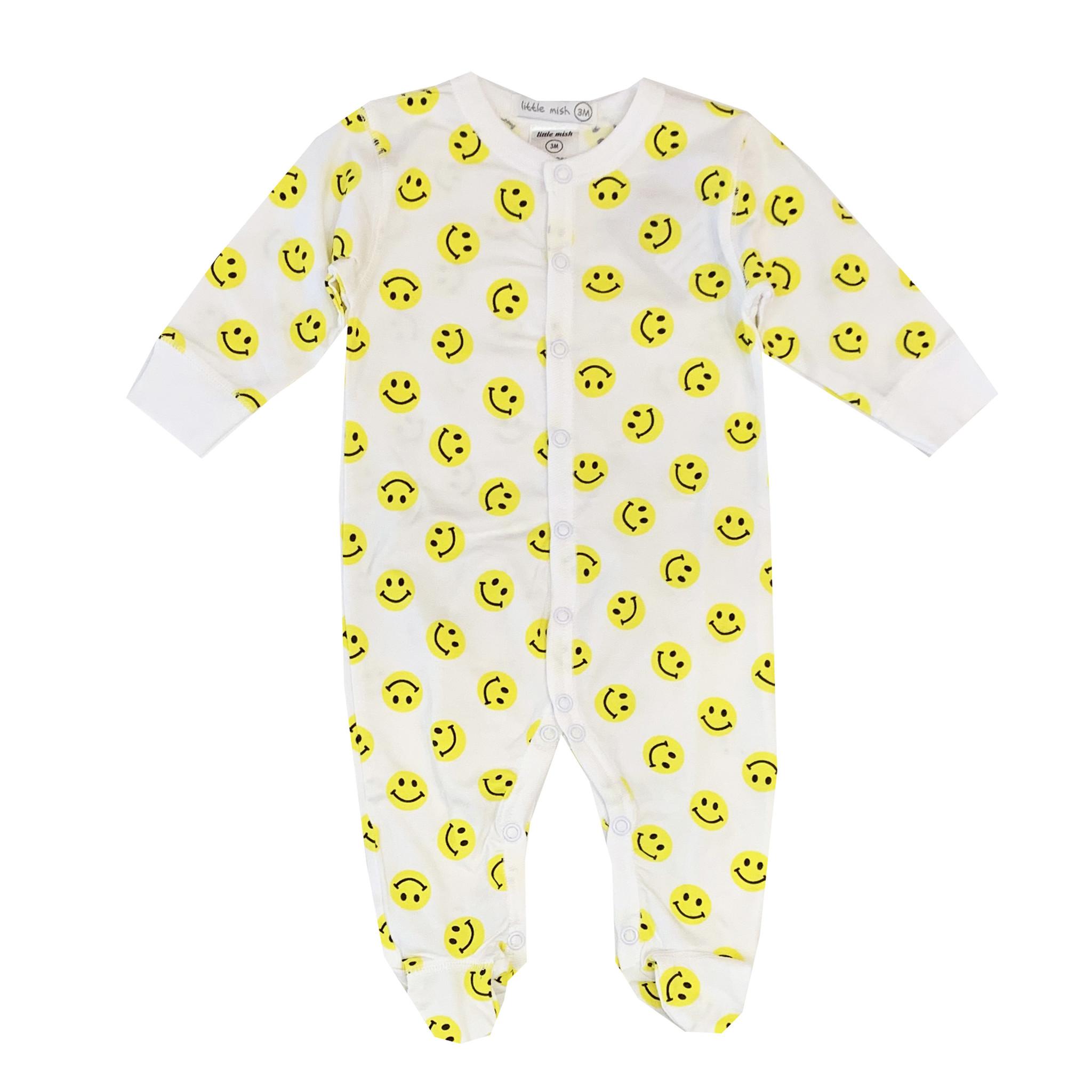 Little Mish Yellow Smiley Footie