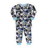 Baby Steps Blue Sports Print Infant Pajama Set