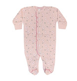 Baby Steps Pink Bows Footie