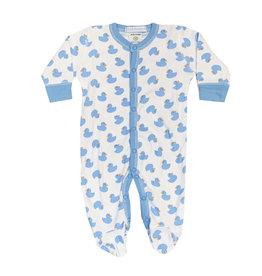 Baby Steps Blue Ducks Footie