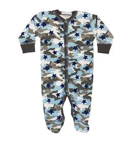 Baby Steps Blue Camo Star Footie