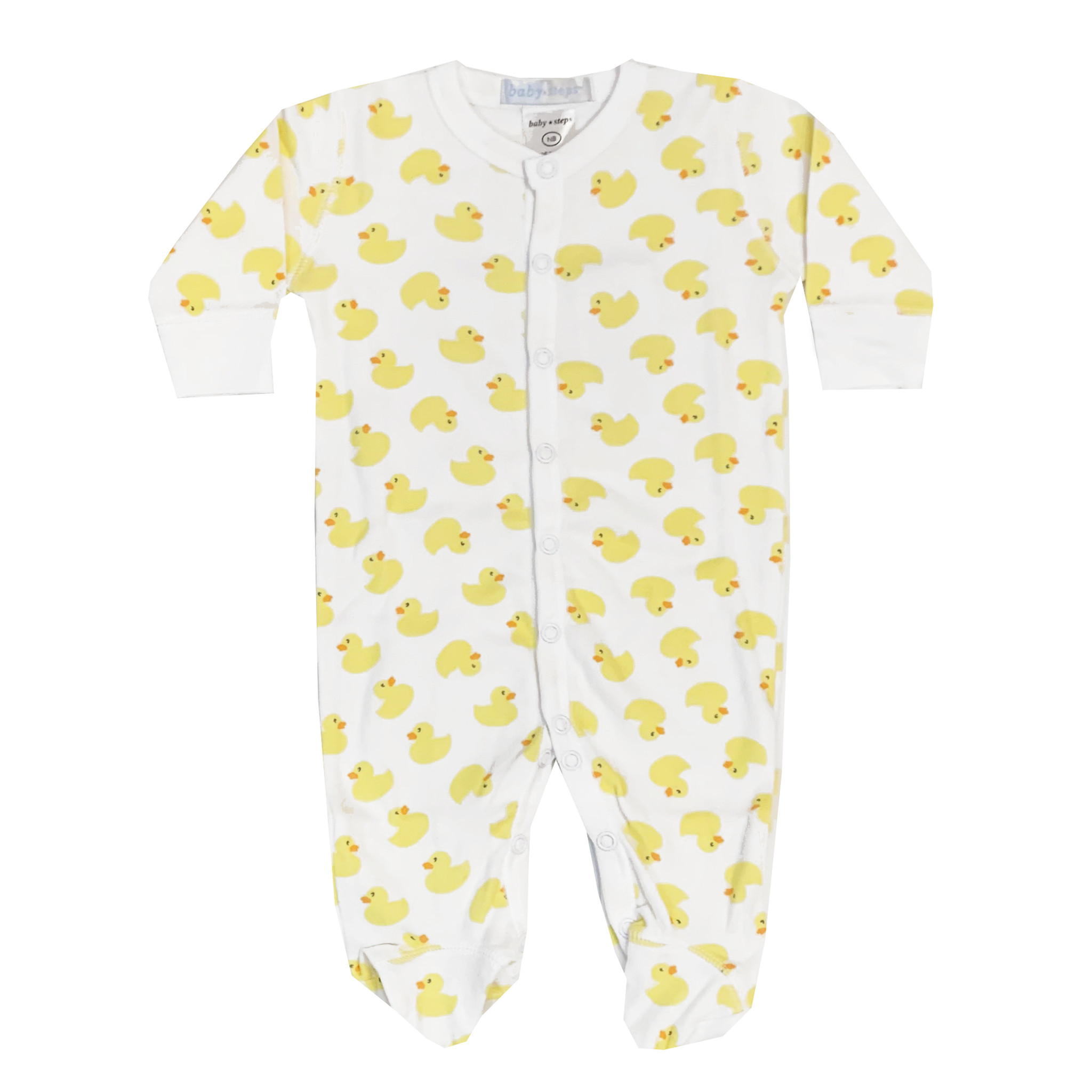 Baby Steps Yellow Ducks Footie
