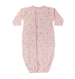 Baby Steps Pink Bows Gown NB