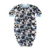 Baby Steps Blue Sports Print Gown NB