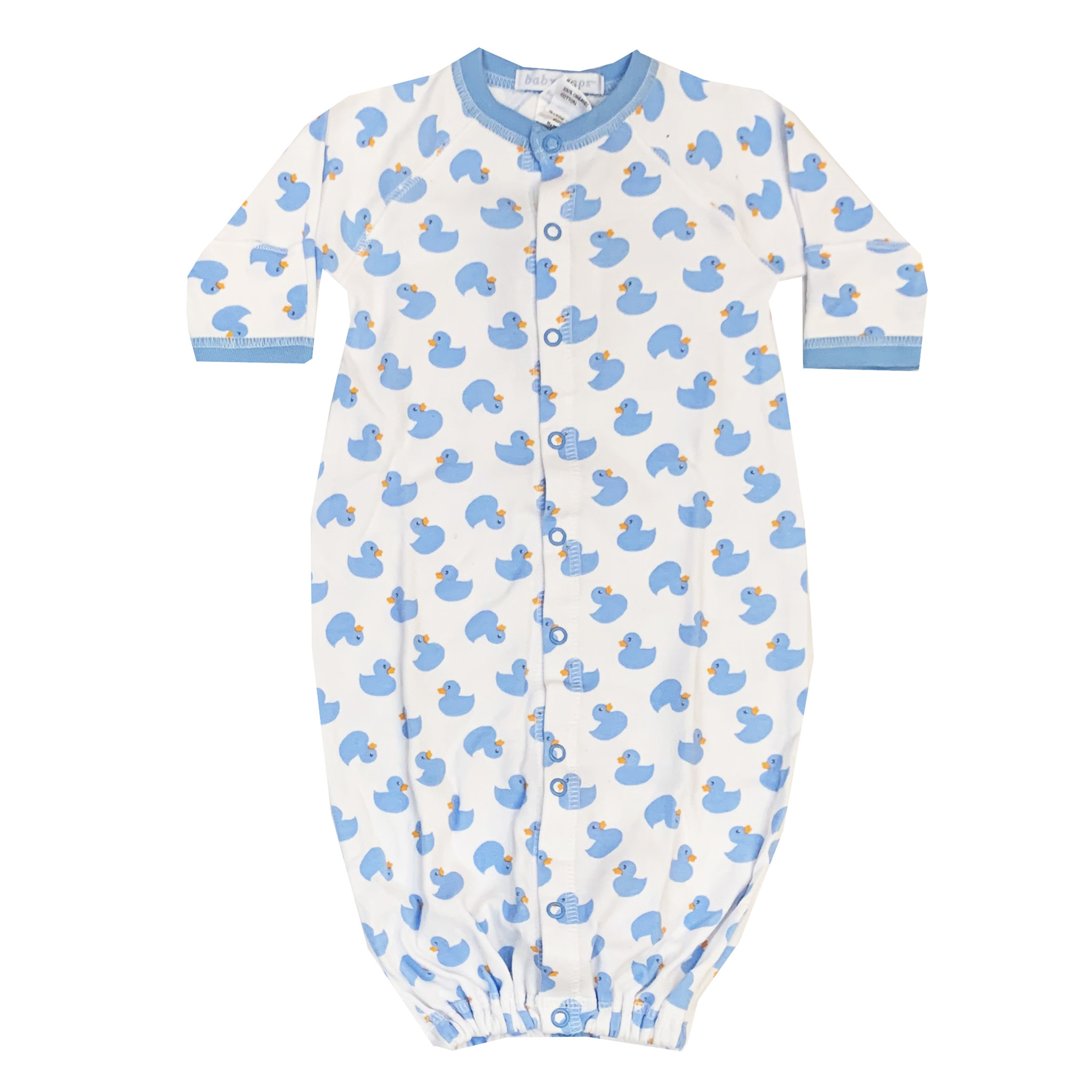 Baby Steps Blue Ducks Gown NB