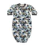 Baby Steps Blue Camo Star Gown NB