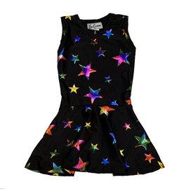 Dori Creations Black Multi Star Tank Dress