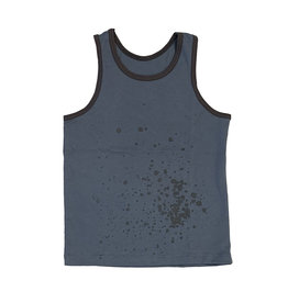 No Biggie Blue Splatter Muscle Tank