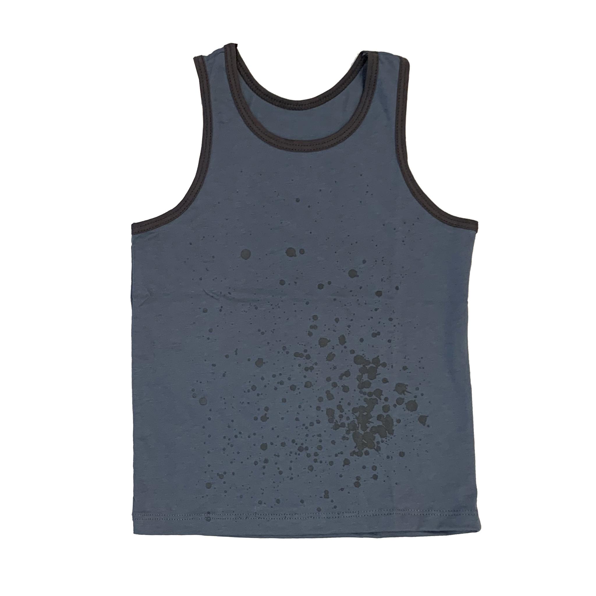 No Biggie Blue Splatter Infant Muscle Tank
