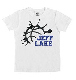 White Splatter Basketball Custom Camp Tee