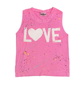 Firehouse Neon Pink Love Splatter Tank