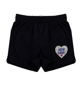 Glitter Camp Name Heart Shorts