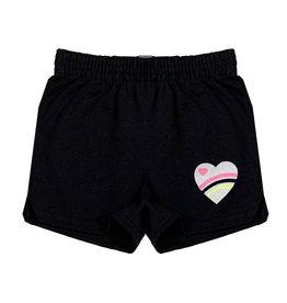 Glitter Neon Love Heart Camp Shorts