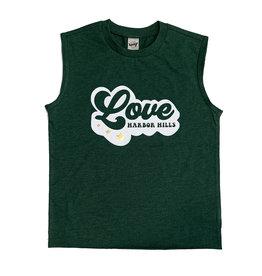 Green Retro Love Custom Camp Tank