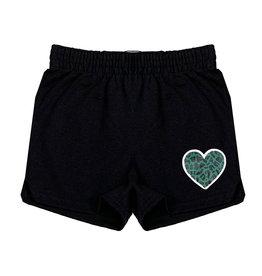 Green Leopard Heart Camp Shorts