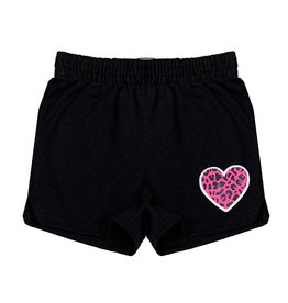 Pink Leopard Heart Camp Shorts
