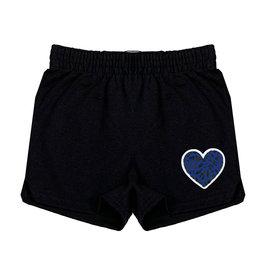 Blue Leopard Heart Camp Shorts