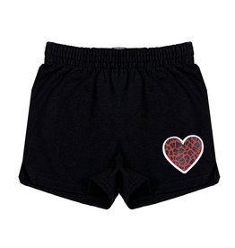 Red Leopard Heart Camp Shorts