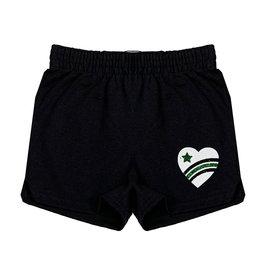 Green Glitter Camp Love Heart Camp Shorts
