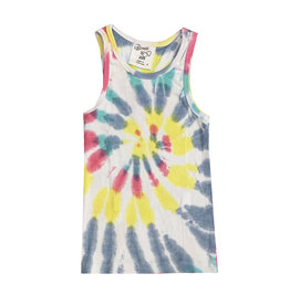 Flowers by Zoe Multi Tie Dye Ribbed Tank