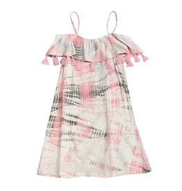 Flowers by Zoe Pink Tie Dye Tassel Dress