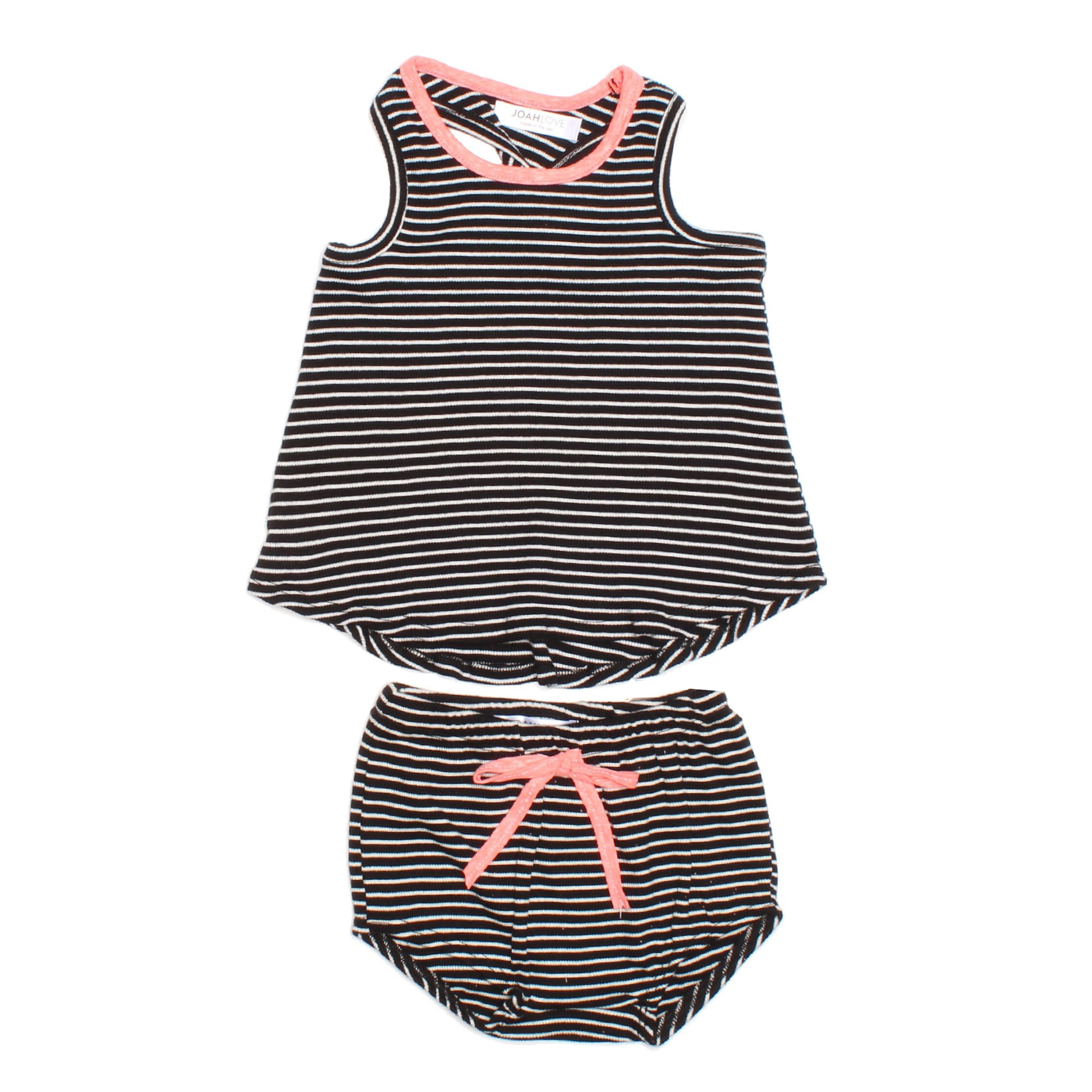 Joah Love Infant Striped Diaper Set