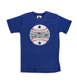 Wes & Willy Royal Heathered Baseball Tee