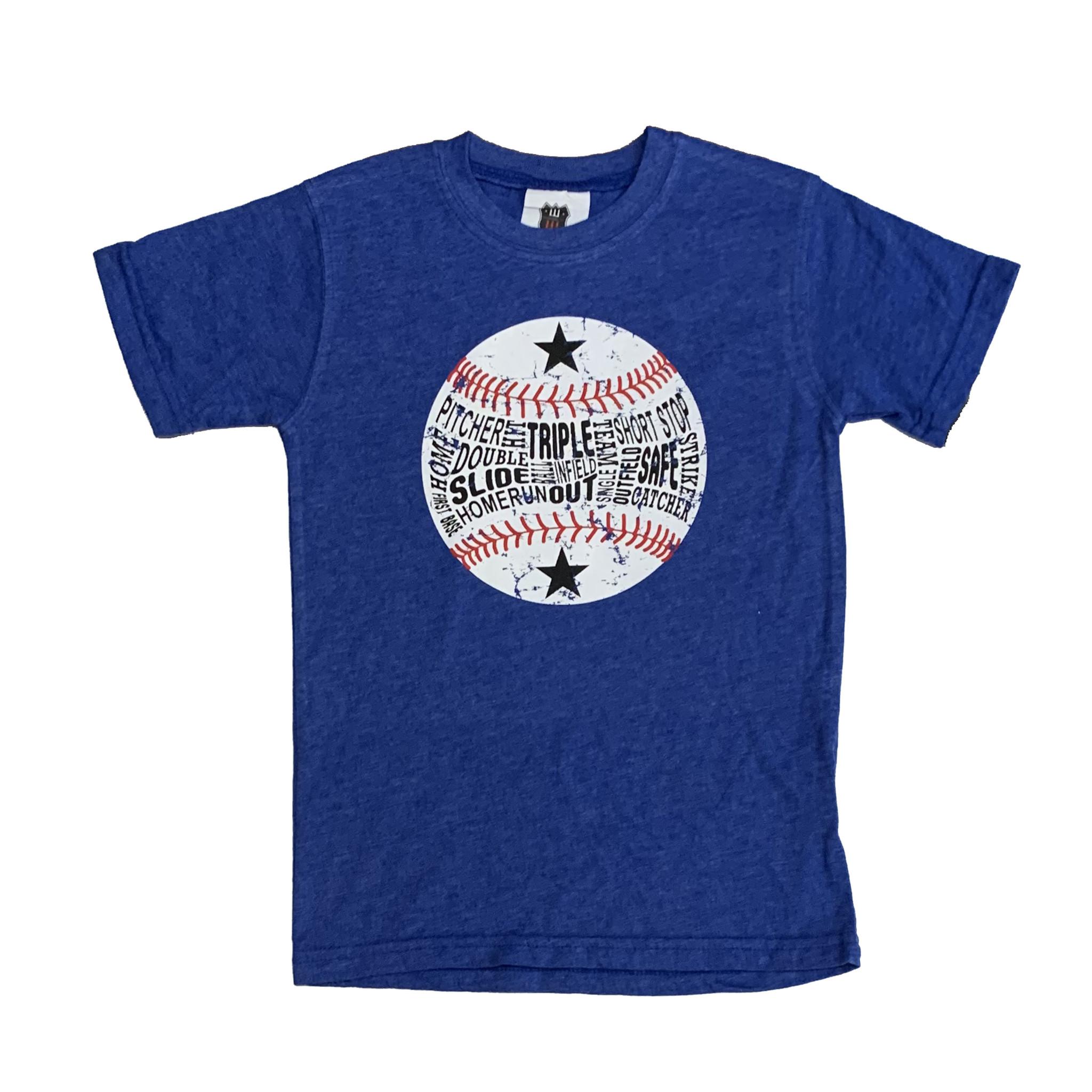 Wes & Willy Royal Heathered Baseball Tee