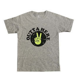 Wes & Willy Grey Peace Outta Here Tee