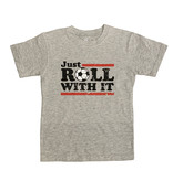 Wes & Willy Grey Roll With It Soccer Tee
