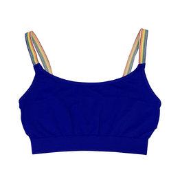 Malibu Sugar Blue Rainbow Strap Bralette 7-10
