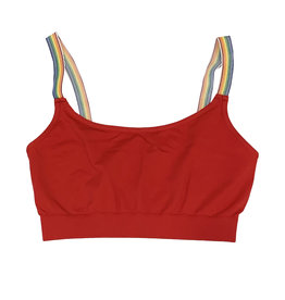 Malibu Sugar Red Rainbow Strap Bralette 7-10