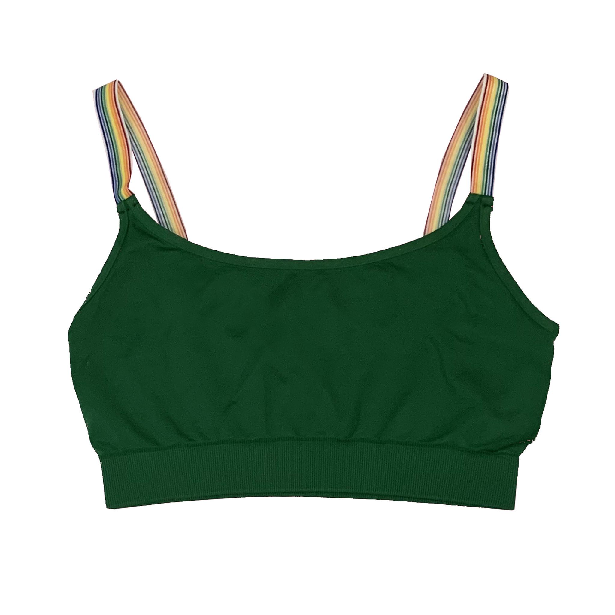 Malibu Sugar Green Rainbow Strap Bralette 7-10