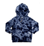 Cozii Navy Tie Dye Infant Zip Hoodie