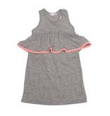 Joah Love Grey Ruffle Dress with Neon Trim