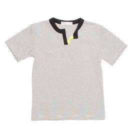 Joah Love Striped Tee with Neon Notch Neck